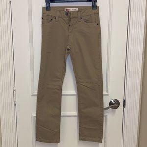 Levi's 511 Slim Cut Khaki Brown soft pants. SZ10R